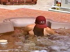 Horny dude wants to jerk off in the jacuzzi