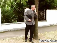 Aged Guy Plays Pervert scene with young blonde