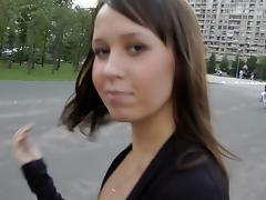 Lusty bitch gets ravished in a public park