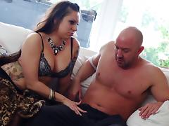 Chubby MILF cheats on her husband with the gardener