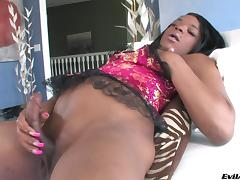 Naughty hot ass trans sweetheart Lola Bonnie in nasty huge dick masturbation