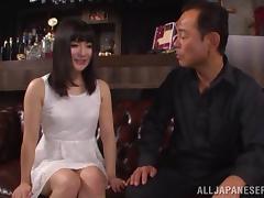 He licks the Japanese girl all over before fucking her