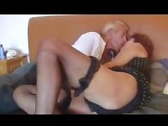 Mature couple - granny and grandpa having sex
