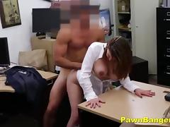 Busty Lady Trades With Her Tits And Pussy