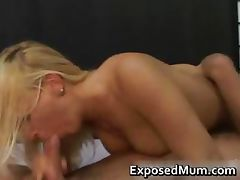 Lovely blond mother in stockings rough part3