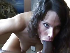 Brunette MILF finds a cock to relieve her stress