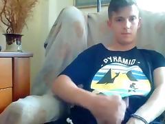 Greek cute boy cums on webcam  sexy ass