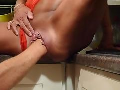 Pumped pussy fisted