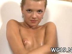Babe caresses by dildo