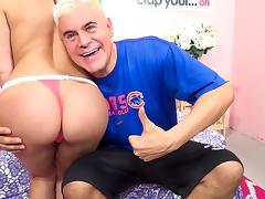 Aleksa Nicole,Porno Dan in Aleksa Nicole's Ass go Hula Hoop! Video