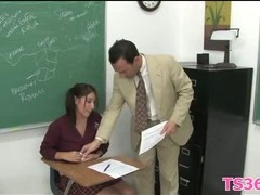 Girl learns to suck and ride