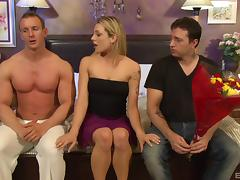Double the fun for a married lady fucking two guys