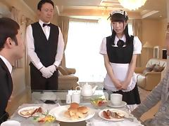 Japanese maid spreads her legs for great sex sessions