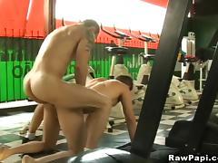Hunk Latino Gay In a Sexy Bareback Sex