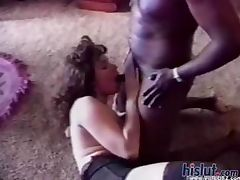 This slut loves black cock
