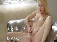 Pink orgasm of true blond princess