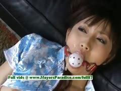Akari Satsuki naughty Chinese girl is tied and gets a facial