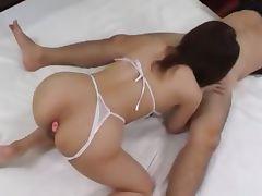 duo asians fucking bum and making blow