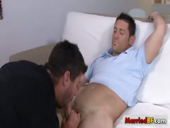 Married man in serious gay fuck and suck action