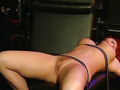 Strict lesbian fetish spanking mistress goes wild