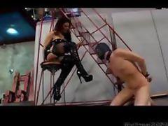 Boot Licking With Sexy Dominatrix bdsm bondage slave femdom domination