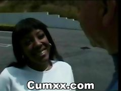 Ebony Interracial Ass Busted In Car