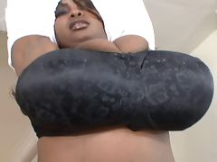 Dominican Miosotis presenting her giant Melons