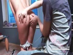 Hot teenie gets twat fingered by her BF