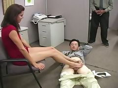 Brunette's hardcore office introductions