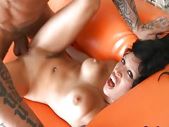 Hot Raquel Love sucks Cock on the street