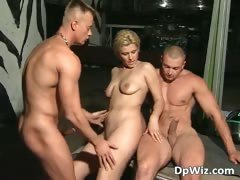 Hot blonde slut enjoying in ass