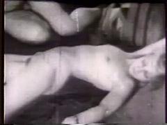 Nasty Fucking Girl Teasing and Fucking 1940