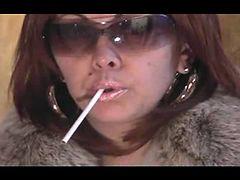 Hot Smoking Mature in Shades and Fur