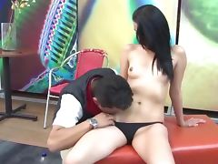 Cock loving real latina gets pussy licked