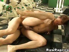 Hunk latino gay craving for hot anal fucking