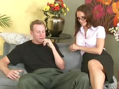 Jennifer Dark the sexy teacher getting fucked hard as she likes