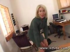 Black Guy Is Lucky To Work At Erica Laurens Home Who Grabs His Hard Dick And Gives Him Handjob