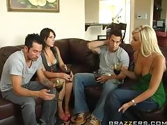 Swingers Night With The Hot Brunettes Penny Flame And Rebeca Linares