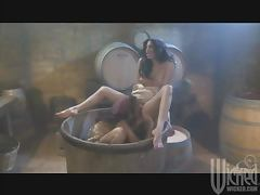 Wine Making Lesbians Joined By The Winery's Owner In FFM Threesome