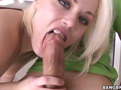 Ash Hollywood Loves Dirty Talking when she Sucks Big Cocks