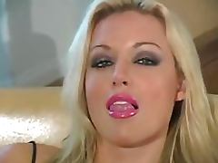 Heart Stopping Blonde Babe Kayden Kross Masturbates In Nylon Pantyhose