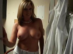 Voyeur Blonde MILF Jodi West Gets Fucked and Jizzed On Her Round