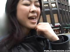 Horny Asian Babe Sucks Cock in an Elevator
