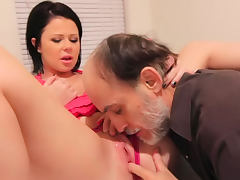Old man with beard fucks Loni Evans