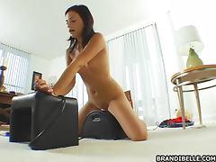 Horny slut Brandi Belle with her fucking machines