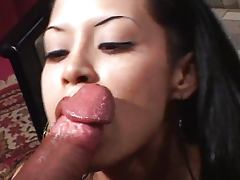 Young Latina on facial hunt