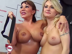 Ava Devine VS Natasha Starr in the cocksucking championship