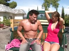 Jennifer Dark enjoys some naughty banging in a truck