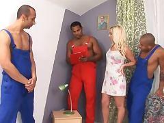 Interracial Gangbang With The Blonde Cutie Cindy Dollar