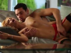 Erica Fontes makes out with some guy and has stunning sex with him